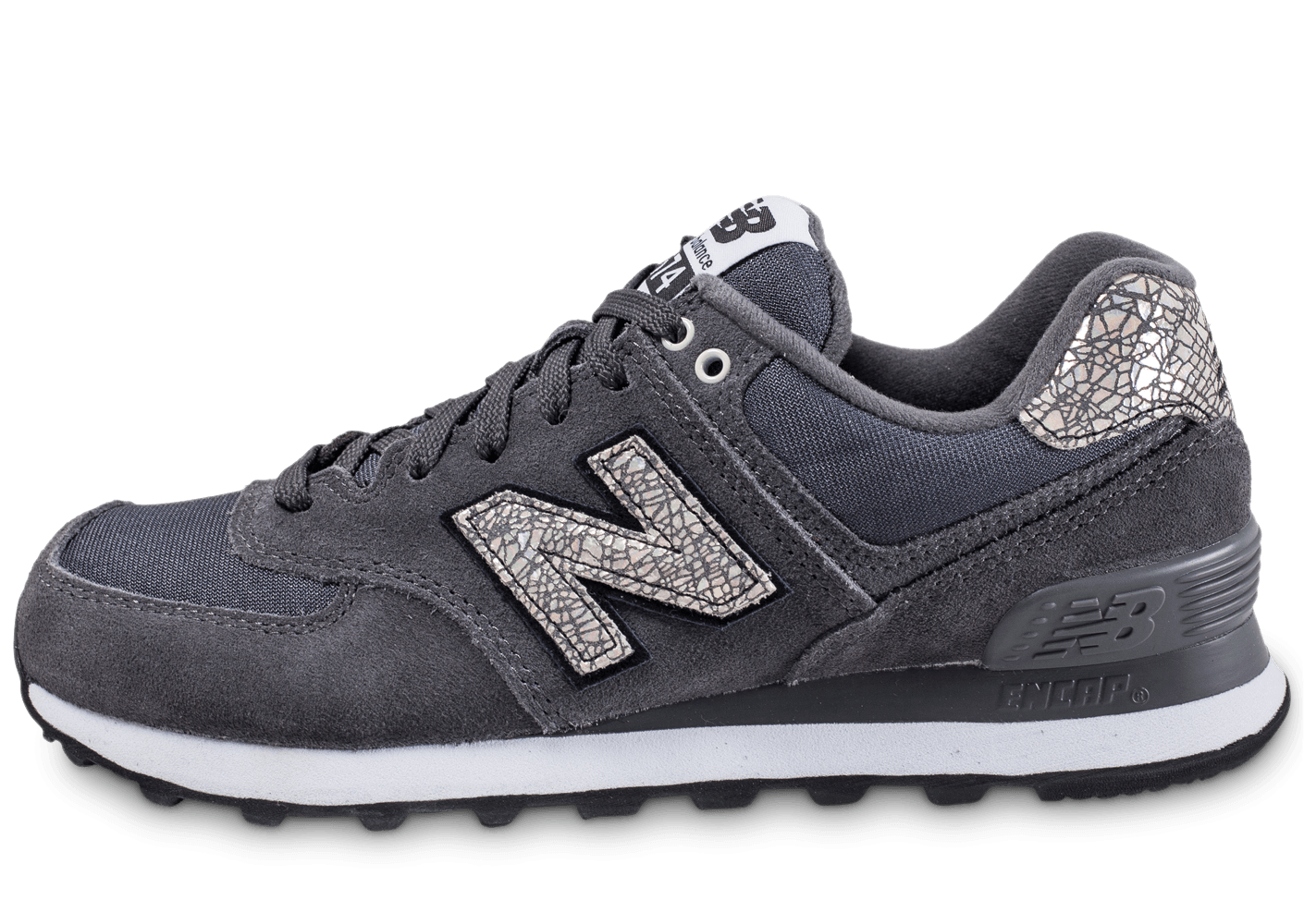 New Balance WL574 CID anthracite - Chaussures Black Friday - Chausport