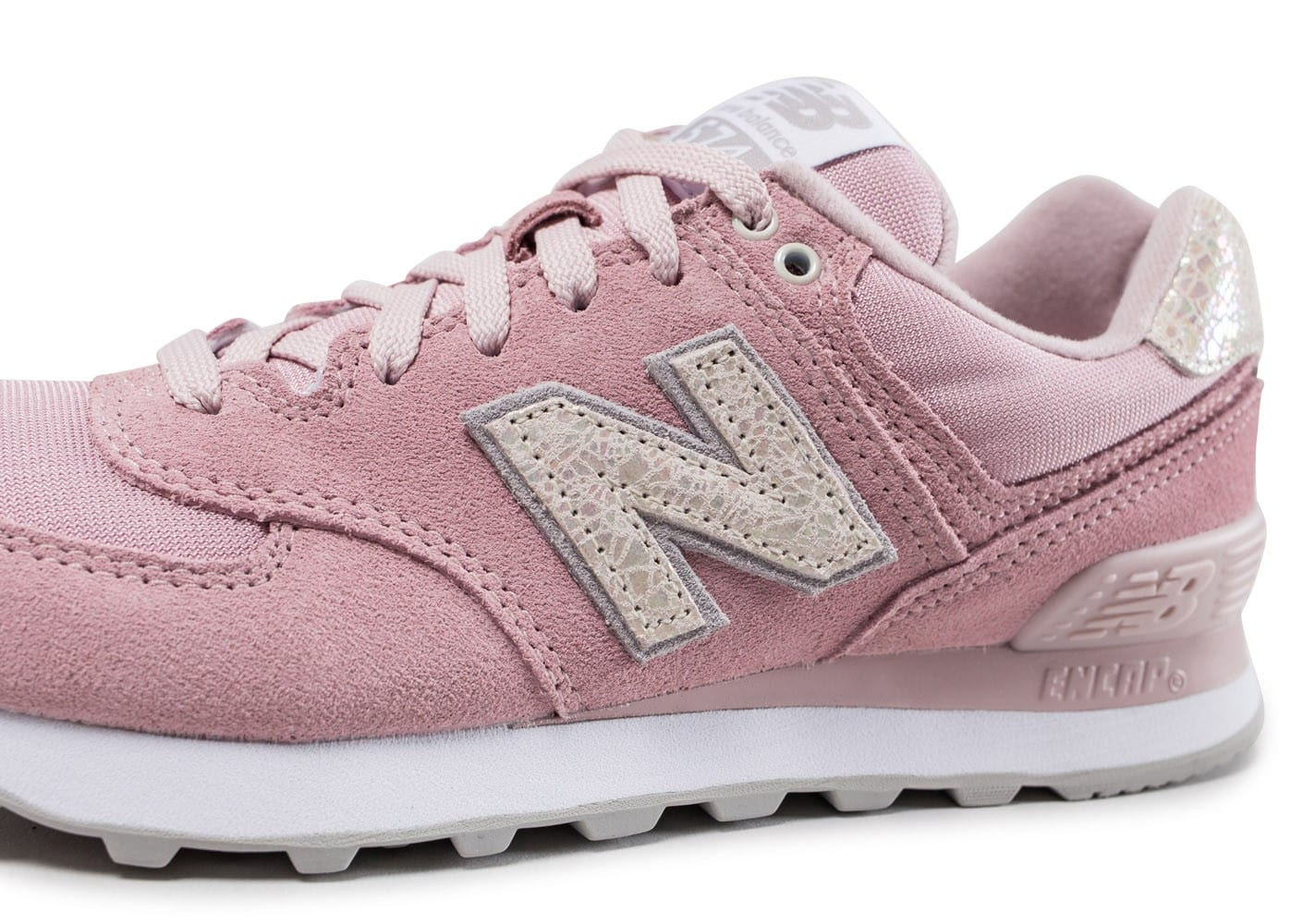 New Balance WL574 CIC rose - Chaussures Black Friday - Chausport