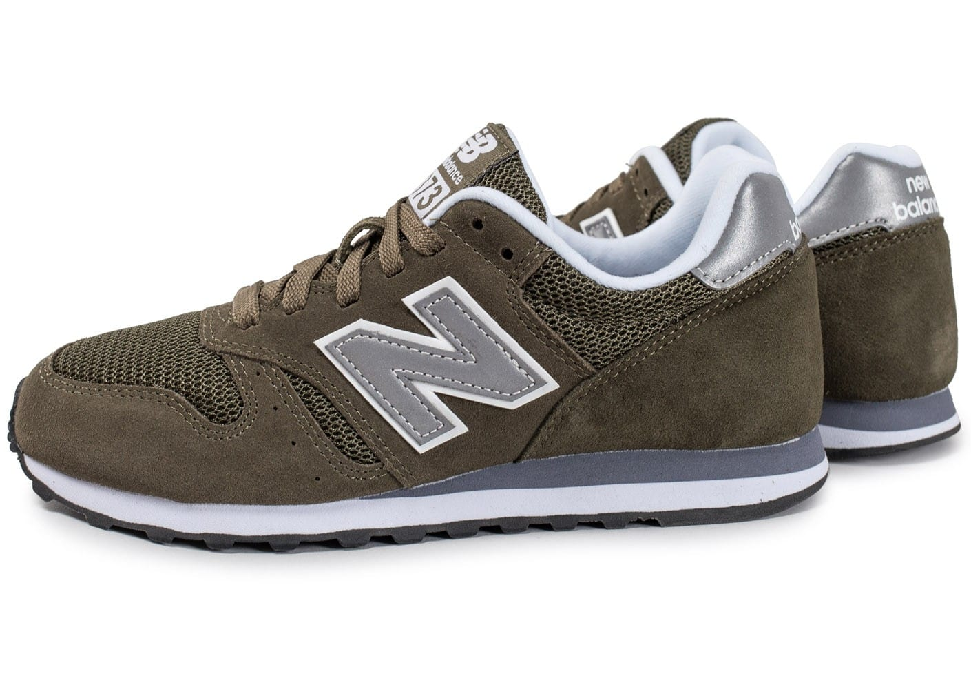 new balance ml373 olv kaki chaussures pour lyc ens chausport. Black Bedroom Furniture Sets. Home Design Ideas