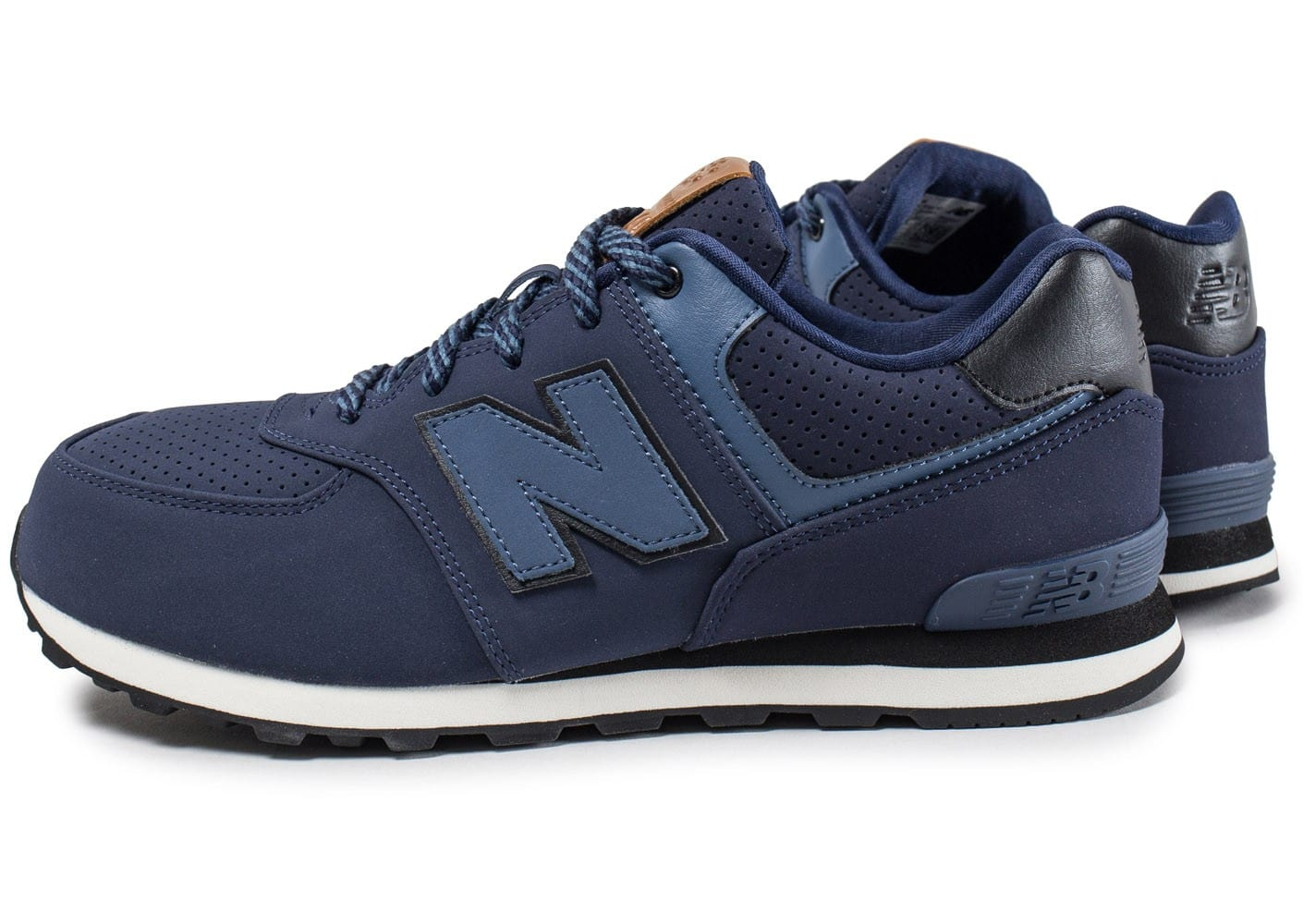 new balance kl574 junior bleu