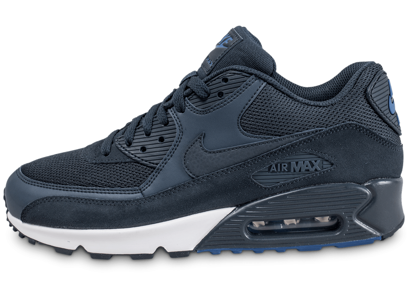 nike air max 90 essential bleue chaussures homme chausport. Black Bedroom Furniture Sets. Home Design Ideas