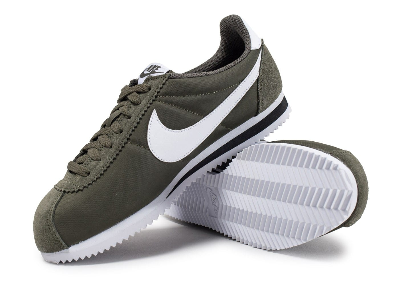 nike classic cortez nylon kaki cargo chaussures baskets homme chausport. Black Bedroom Furniture Sets. Home Design Ideas