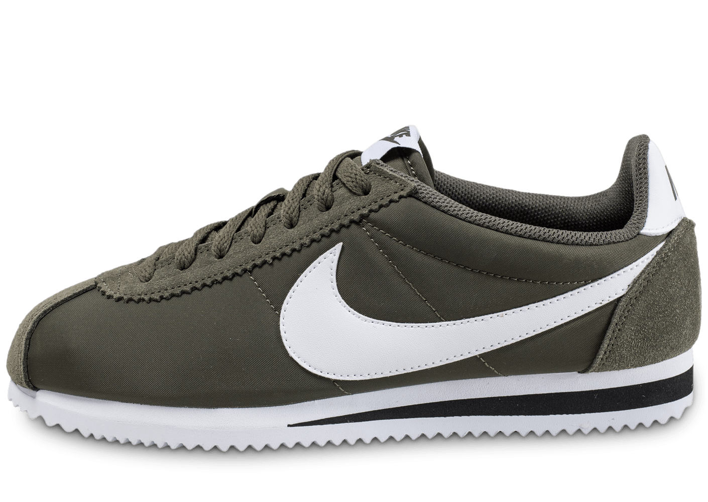 nike classic cortez nylon kaki cargo chaussures homme chausport. Black Bedroom Furniture Sets. Home Design Ideas