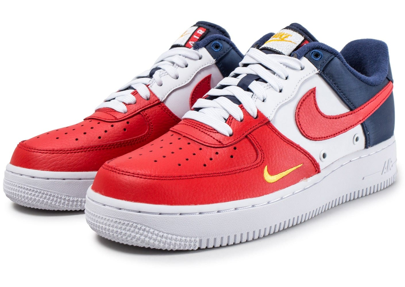 nike air force one low blanc rouge