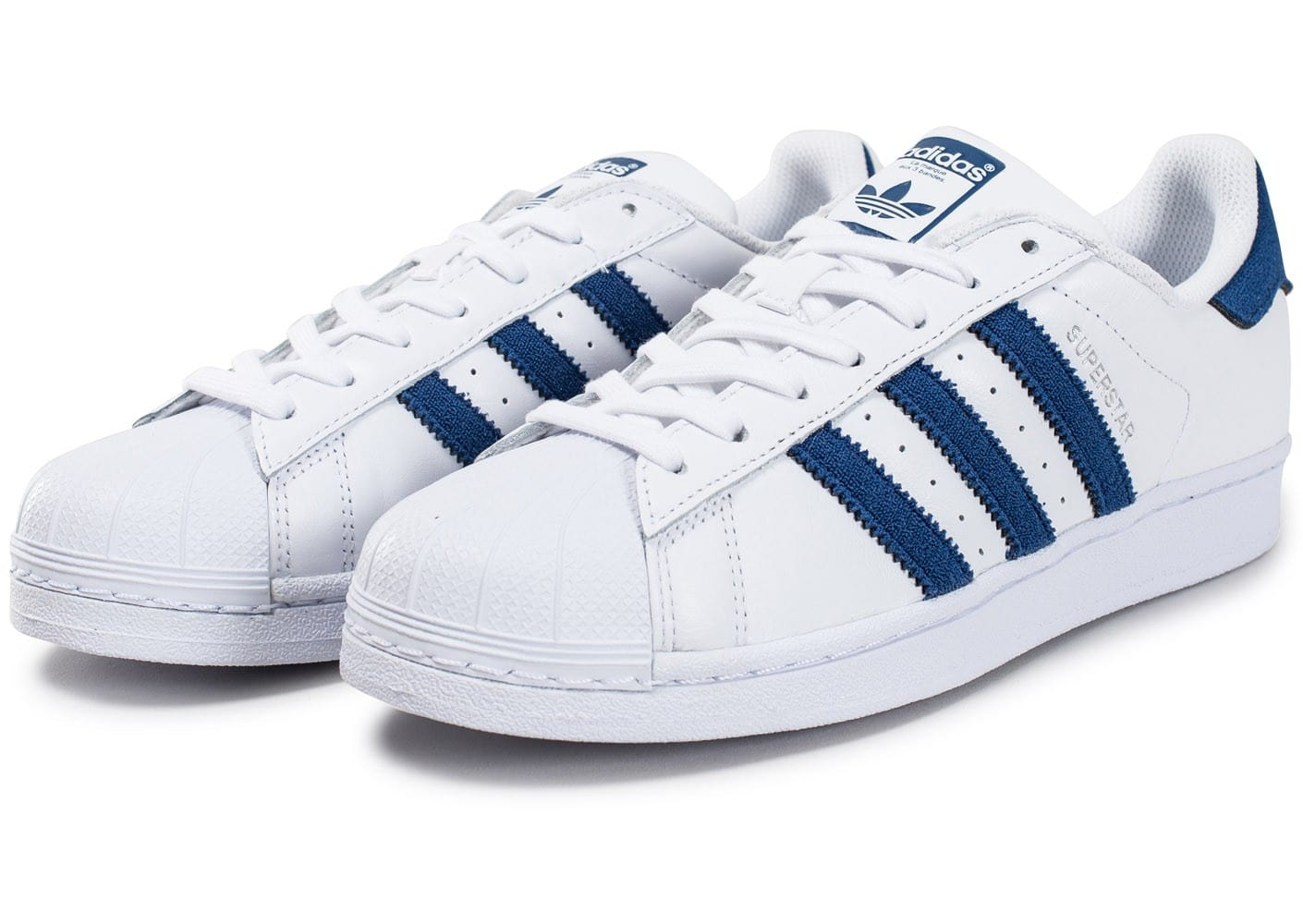 Buy adidas superstar blanche et bleu - 60% OFF