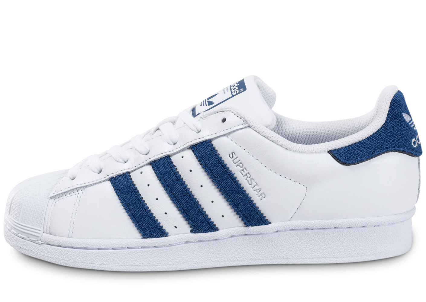 adidas superstar blanche et bleu fonc chaussures homme chausport. Black Bedroom Furniture Sets. Home Design Ideas
