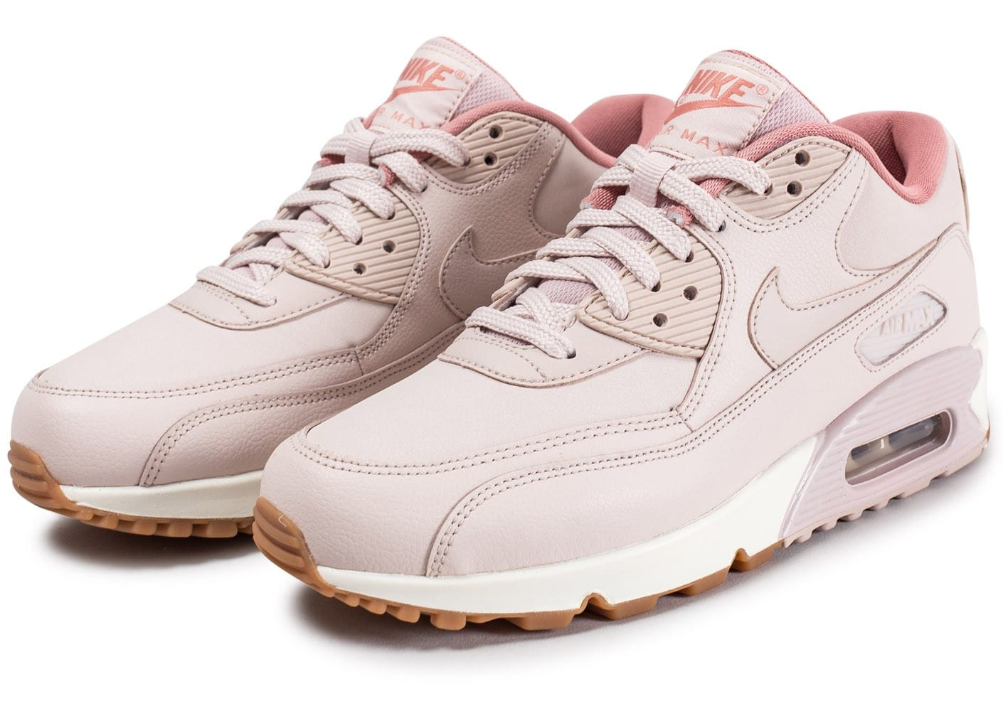 nike air max 90 w leather rose chaussures pour lyc ens chausport. Black Bedroom Furniture Sets. Home Design Ideas