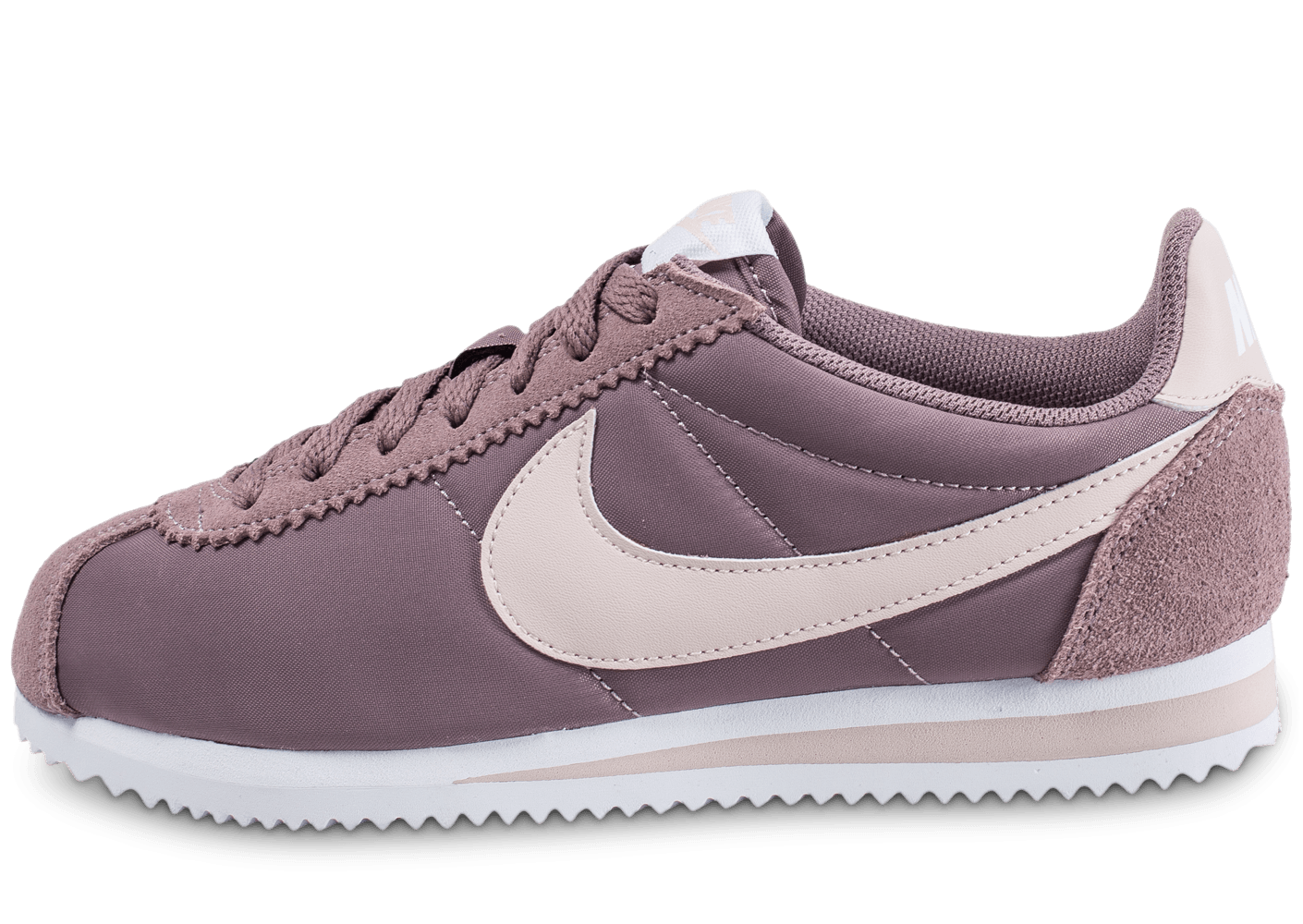 nike classic cortez nylon w mauve chaussures femme chausport. Black Bedroom Furniture Sets. Home Design Ideas