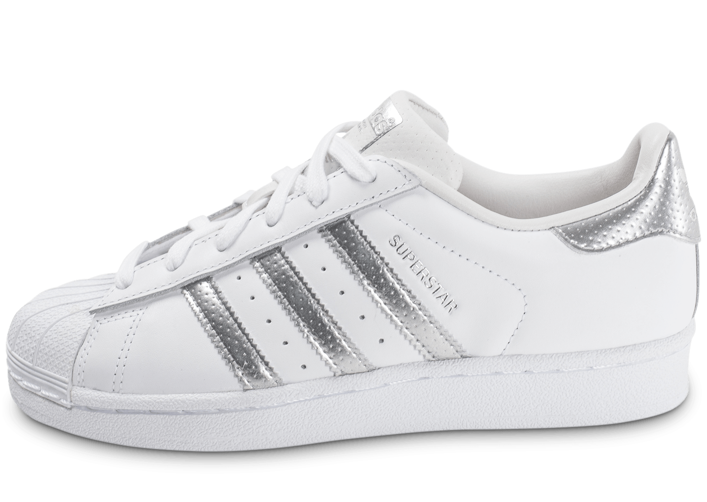 adidas superstar blanche et argent chaussures adidas chausport. Black Bedroom Furniture Sets. Home Design Ideas