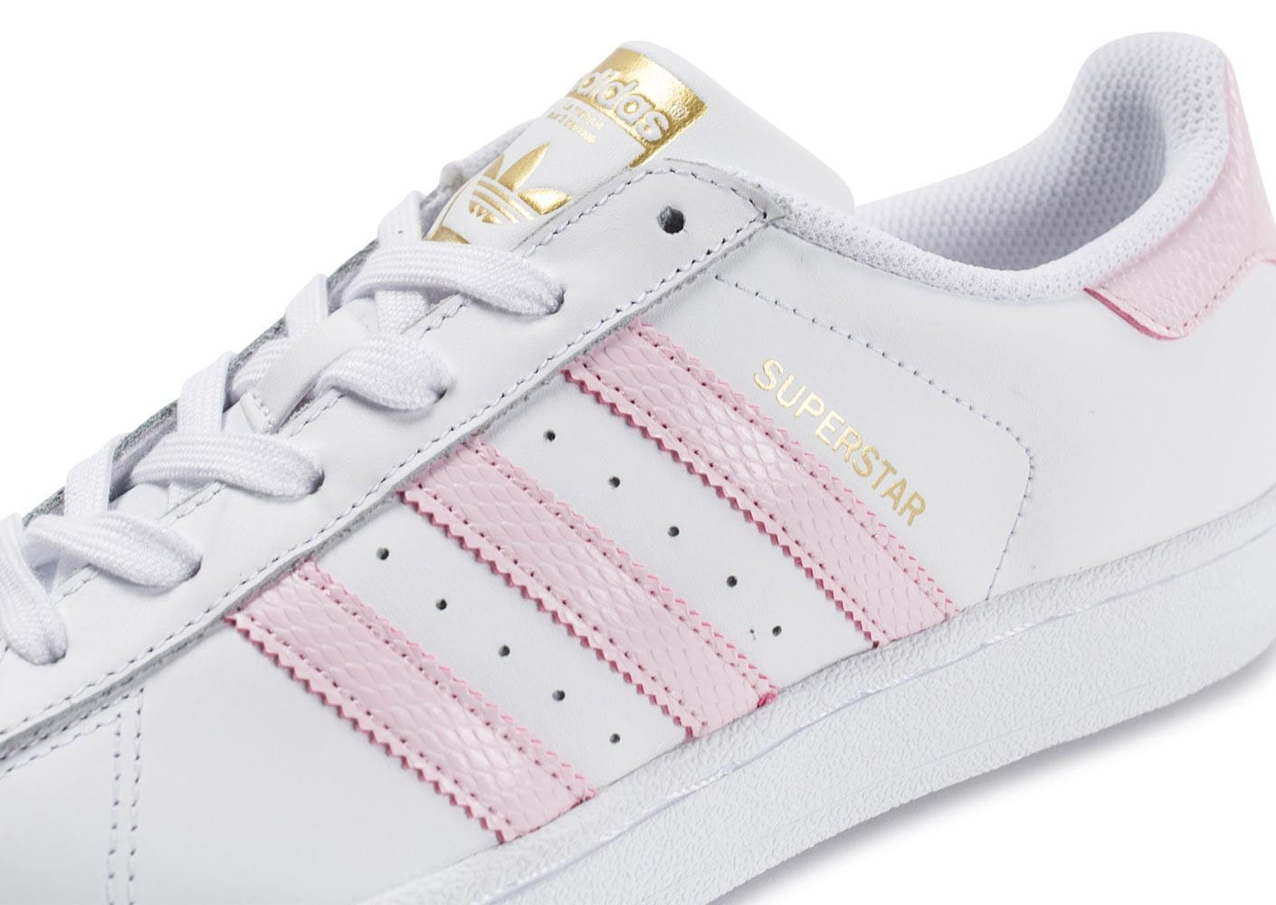 adidas superstar blanche et rose
