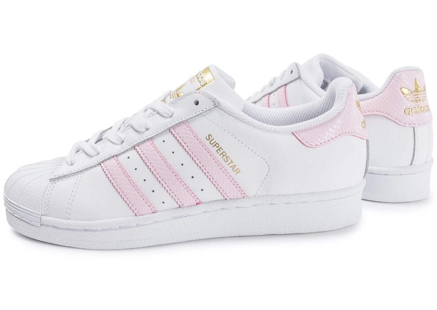 adidas superstar blanche et rose chaussures adidas chausport. Black Bedroom Furniture Sets. Home Design Ideas