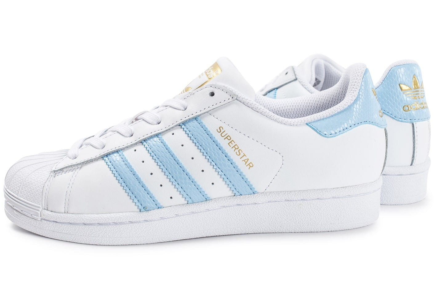 adidas superstar blanc et bleu chaussures adidas chausport. Black Bedroom Furniture Sets. Home Design Ideas