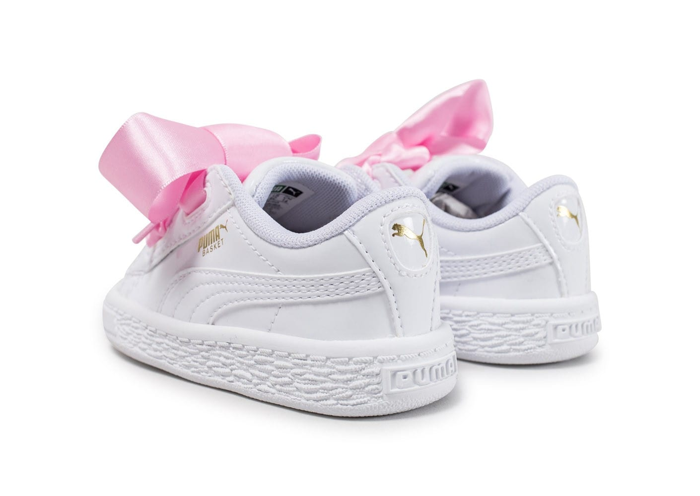 puma heart patent b b blanche chaussures enfant chausport. Black Bedroom Furniture Sets. Home Design Ideas