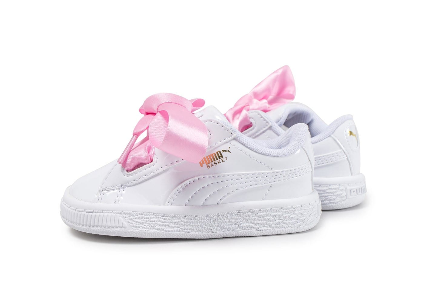puma basket heart patent b b blanche chaussures enfant chausport. Black Bedroom Furniture Sets. Home Design Ideas