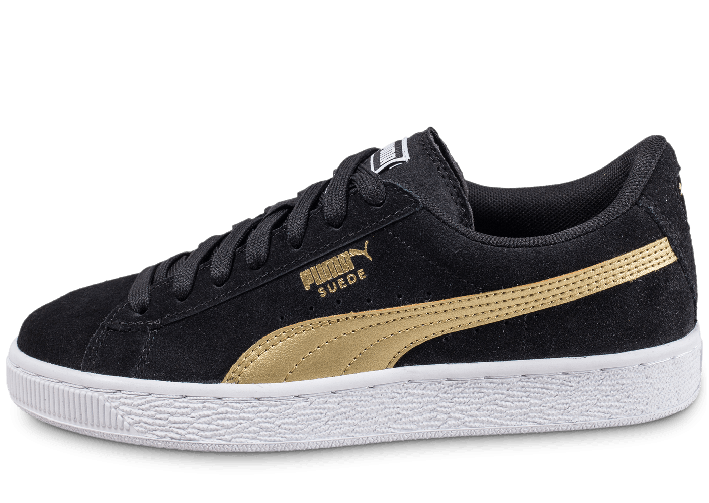 puma puma suede junior noire et or chaussures black friday chausport. Black Bedroom Furniture Sets. Home Design Ideas