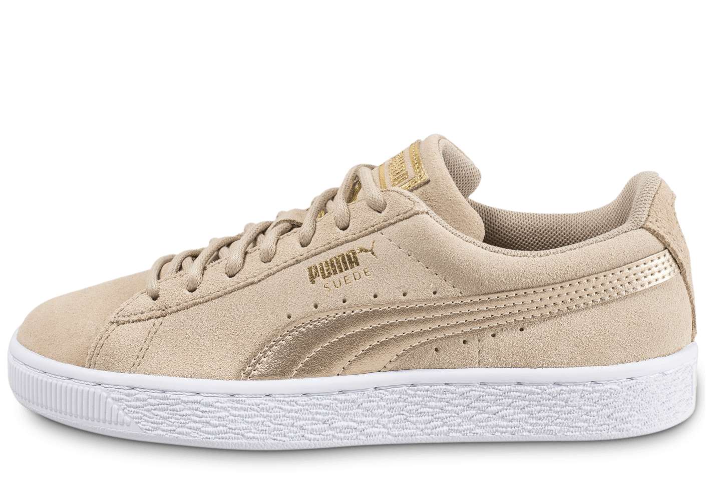 puma suede w safari metallic beige chaussures black. Black Bedroom Furniture Sets. Home Design Ideas