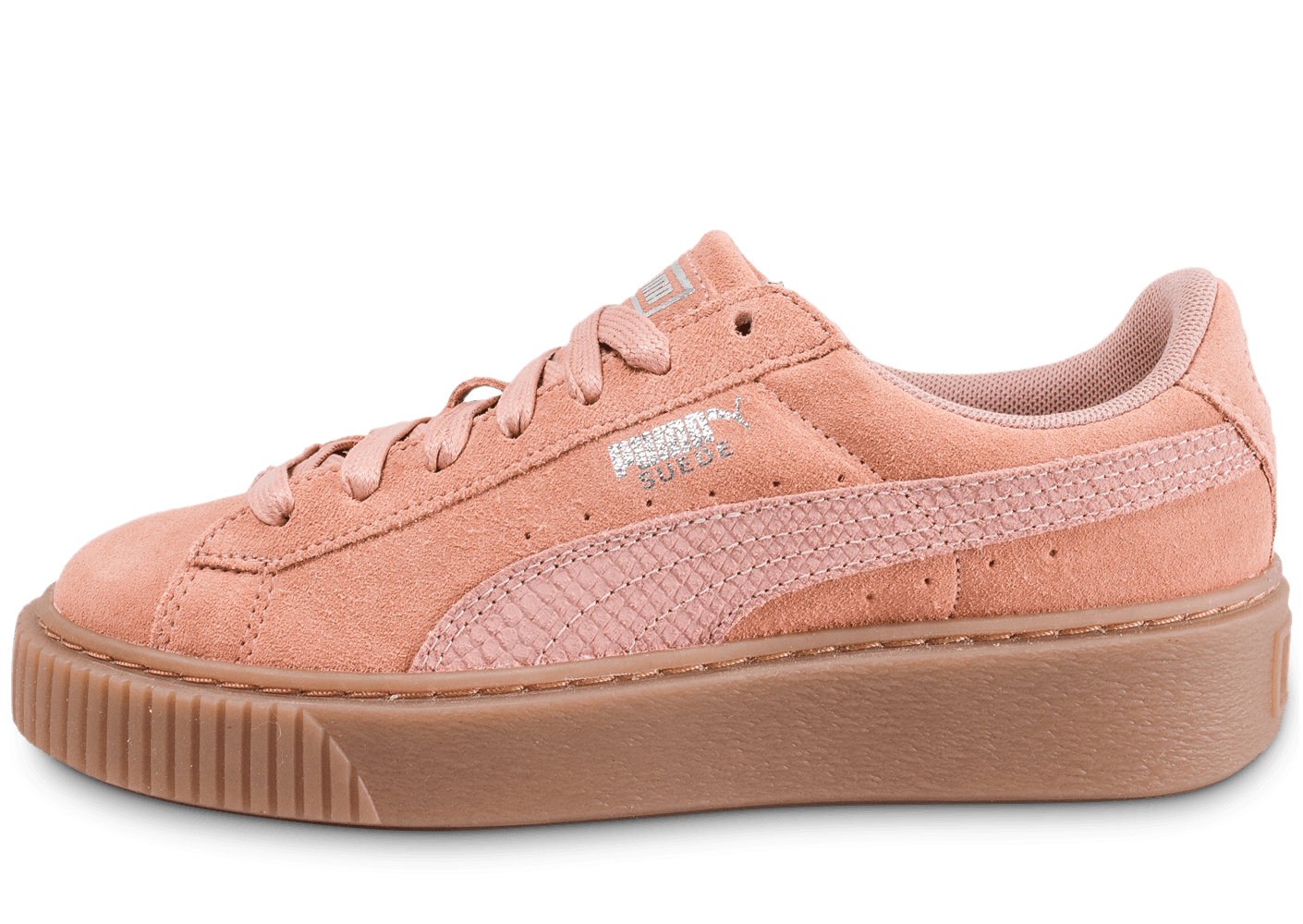 puma rose semelle marron