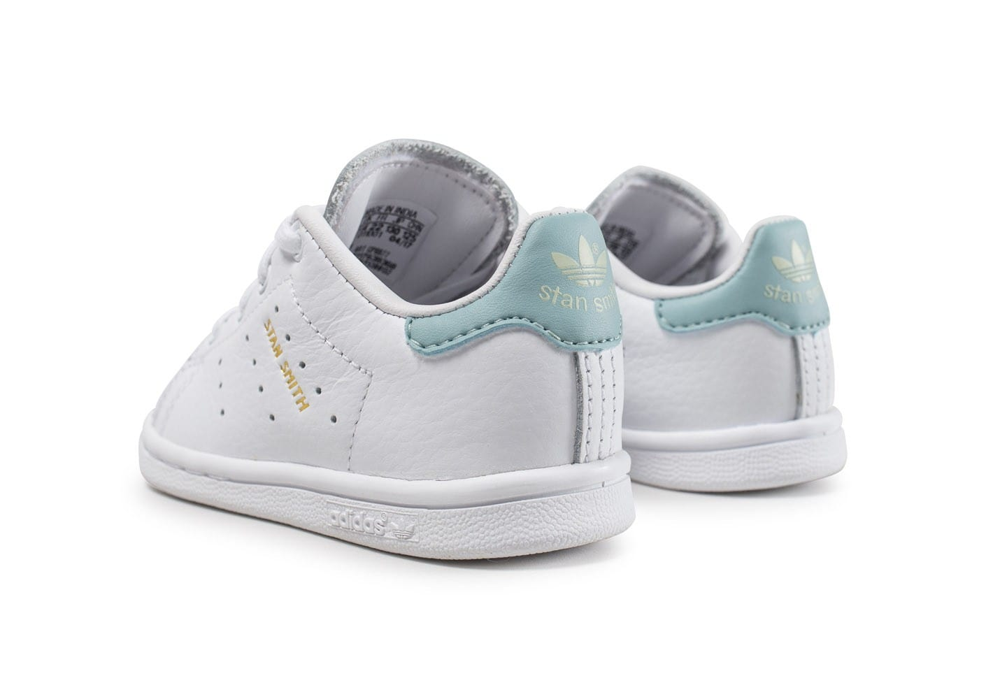 adidas stan smith b b blanche et bleue turquoise chaussures adidas chausport. Black Bedroom Furniture Sets. Home Design Ideas