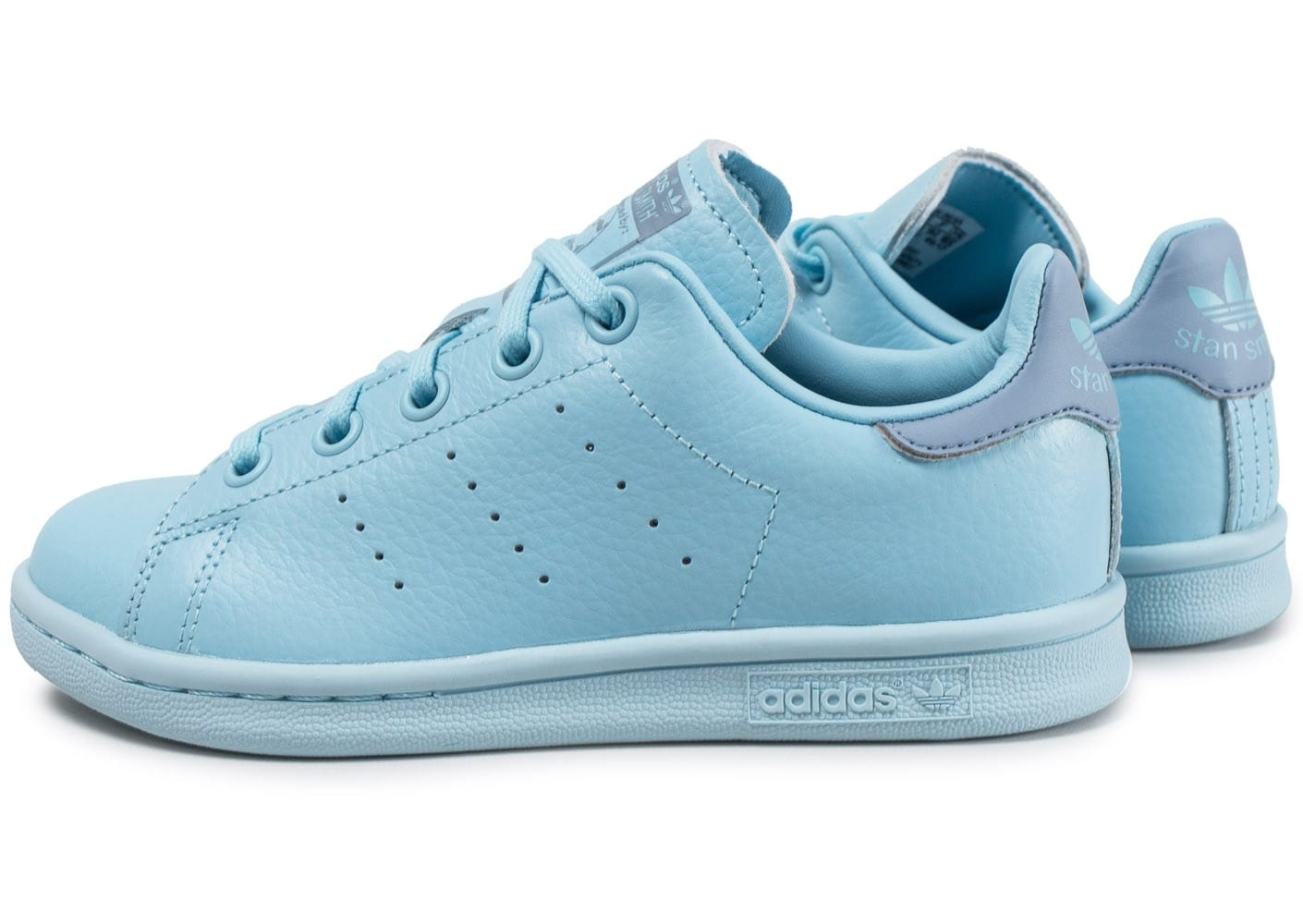 adidas stan smith enfant bleu ciel chaussures adidas chausport. Black Bedroom Furniture Sets. Home Design Ideas