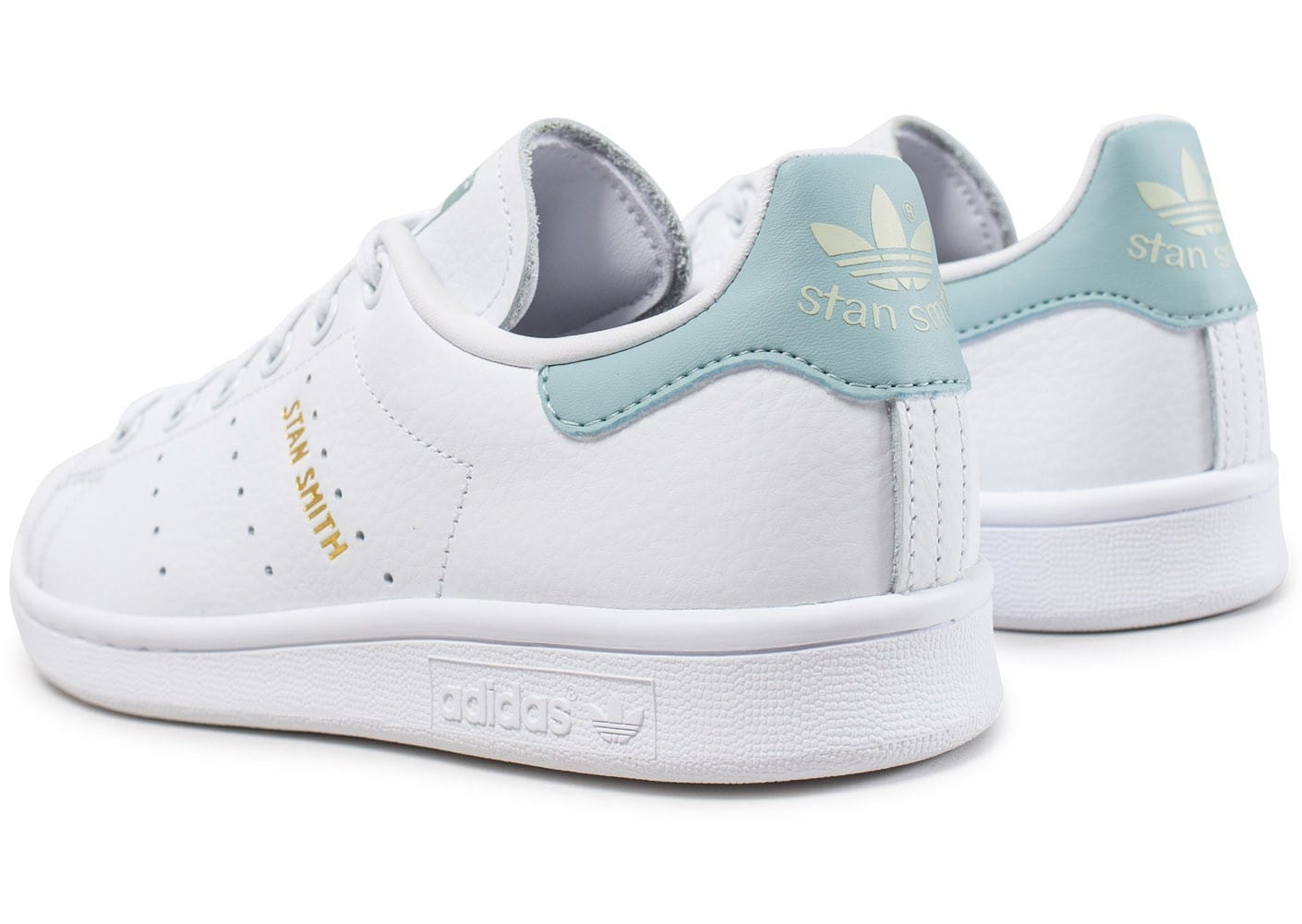 adidas stan smith junior blanche et bleu turquoise chaussures adidas chausport. Black Bedroom Furniture Sets. Home Design Ideas