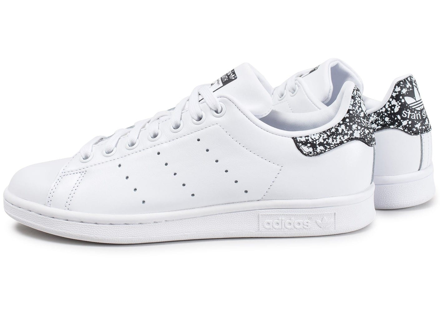 adidas stan smith w blanche et noire chaussures adidas chausport. Black Bedroom Furniture Sets. Home Design Ideas