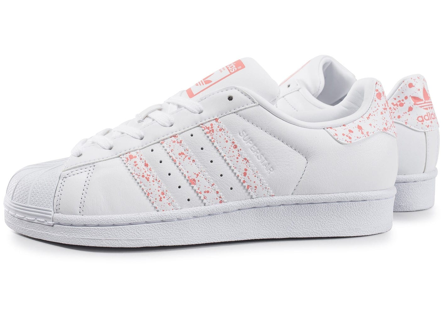 adidas superstar speckle blanche et rose chaussures adidas chausport. Black Bedroom Furniture Sets. Home Design Ideas