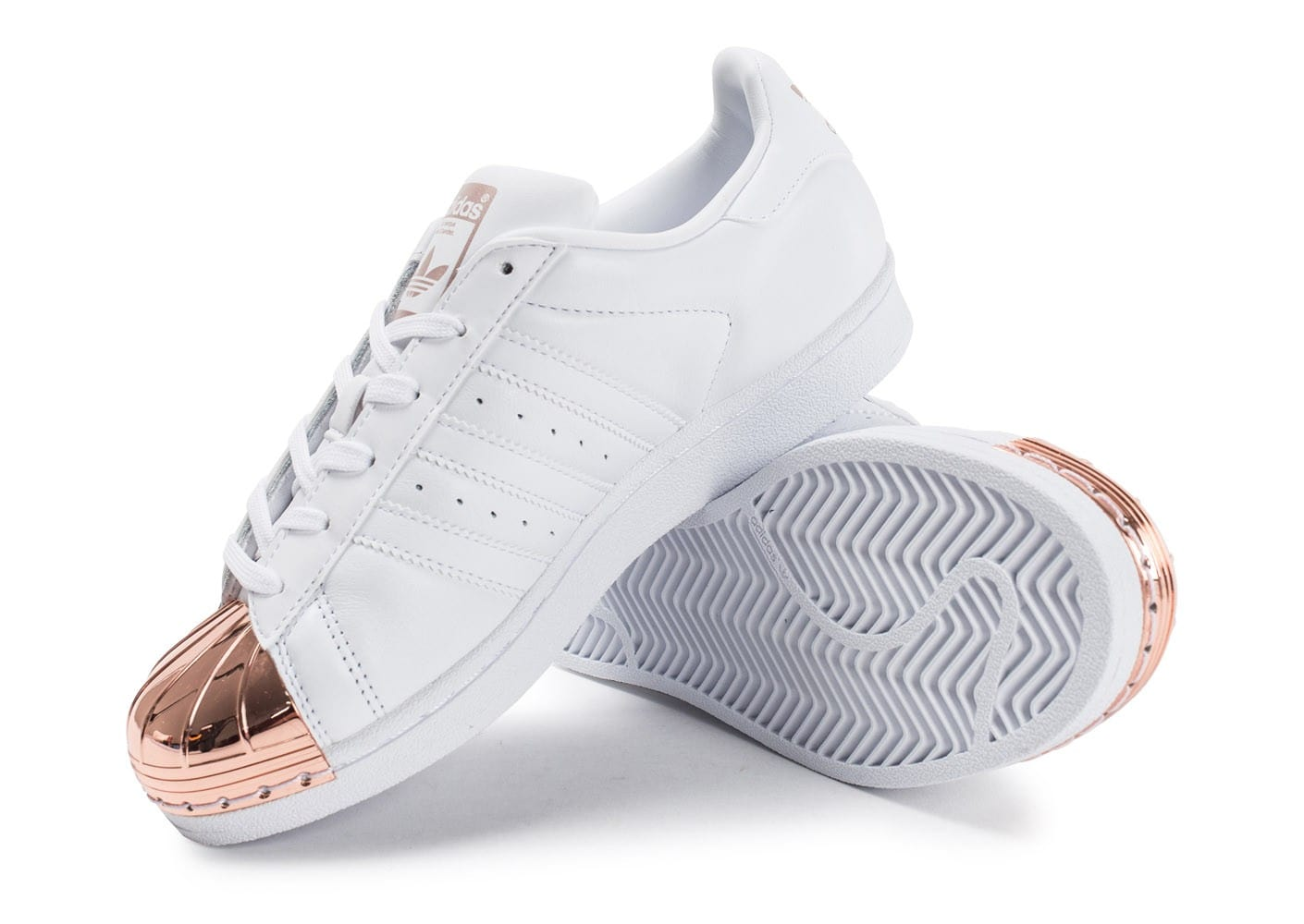 new product 6a383 259cb ... chaussures adidas superstar 80s metal toe blanche vue dessus dessous