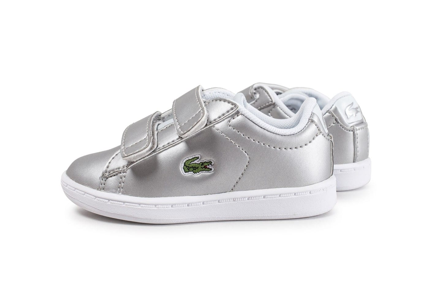 Lacoste carnaby evo b b argent chaussures enfant - Lacoste carnaby evo cls baskets en cuir perfore ...