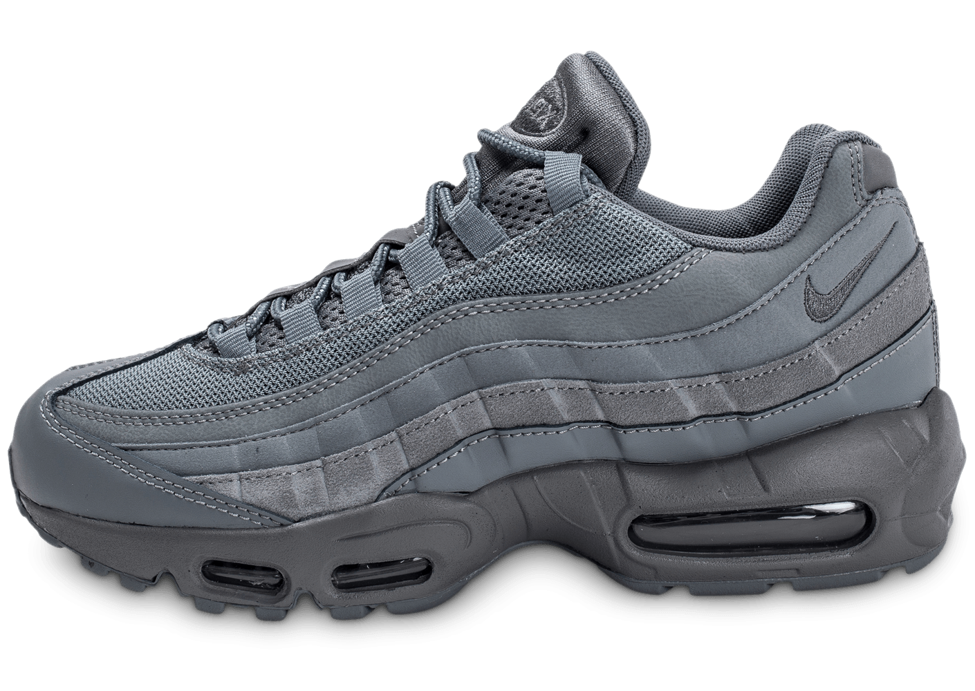 nike air max 95 essential grise chaussures homme chausport. Black Bedroom Furniture Sets. Home Design Ideas