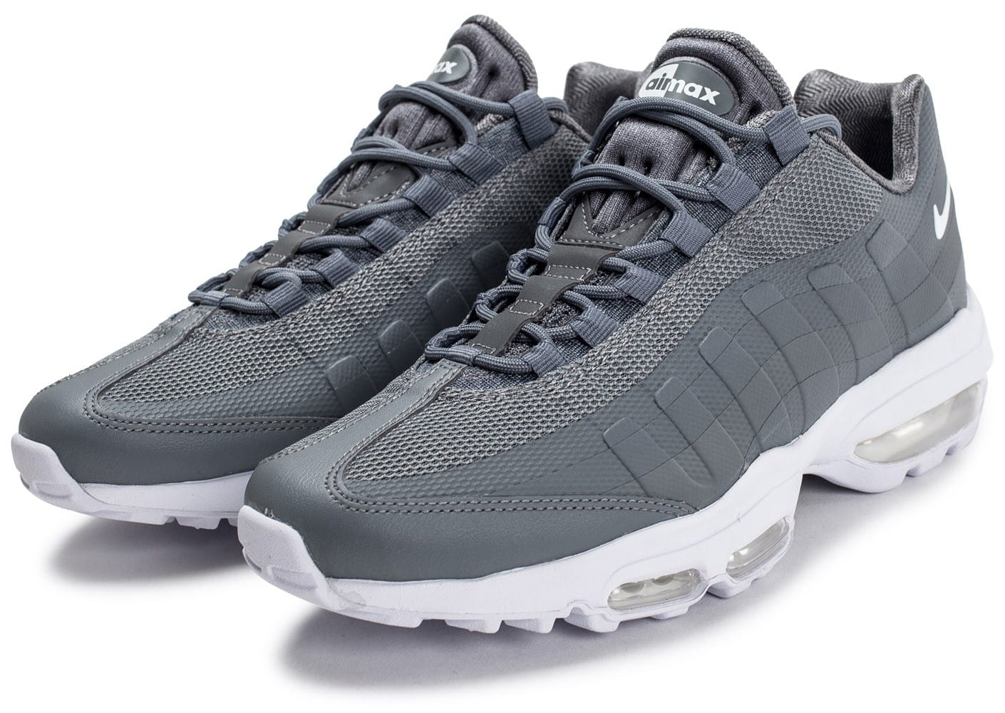 nike air max 95 ultra essential grise chaussures homme chausport. Black Bedroom Furniture Sets. Home Design Ideas
