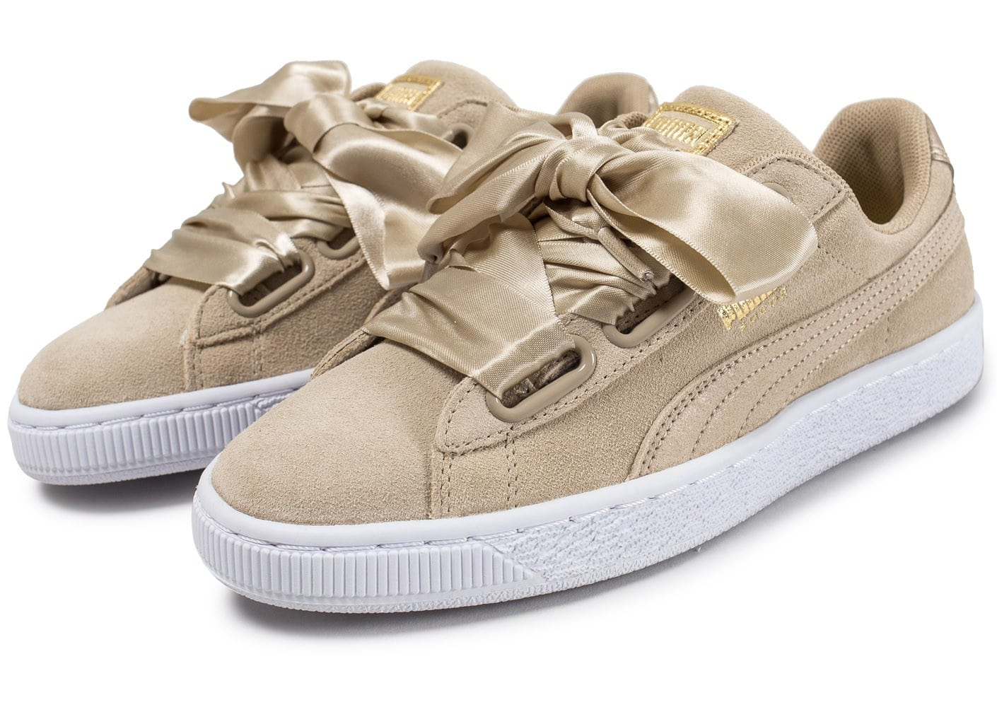 Suede Heart Safari beige