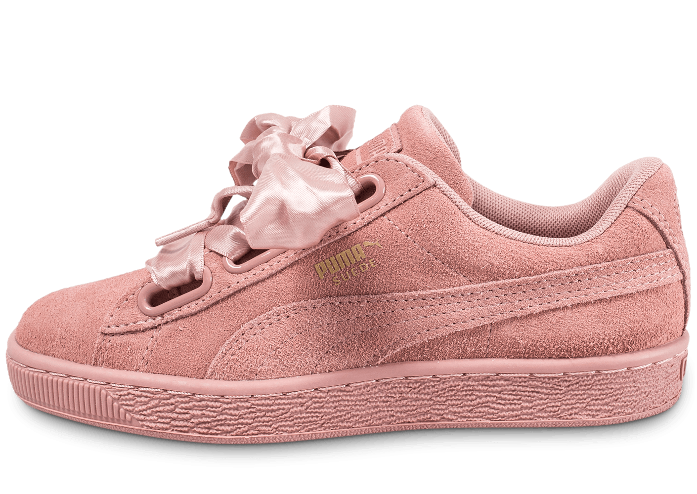 puma suede heart satin ii rose chaussures black friday chausport. Black Bedroom Furniture Sets. Home Design Ideas