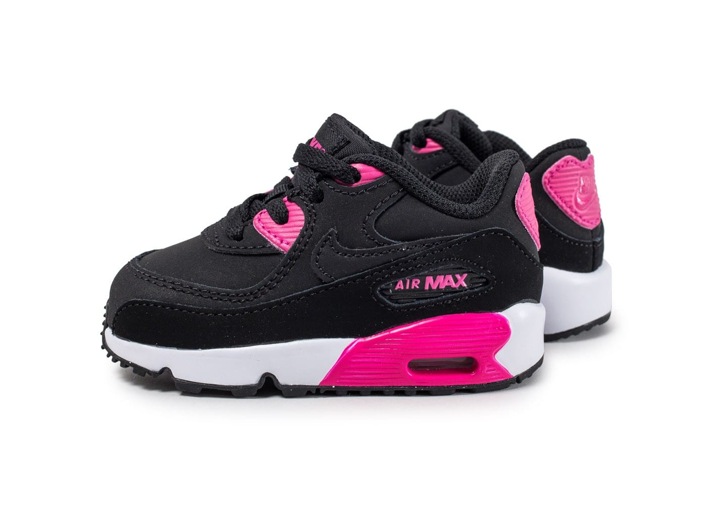 nike air max 90 b b noire et rose chaussures enfant chausport. Black Bedroom Furniture Sets. Home Design Ideas
