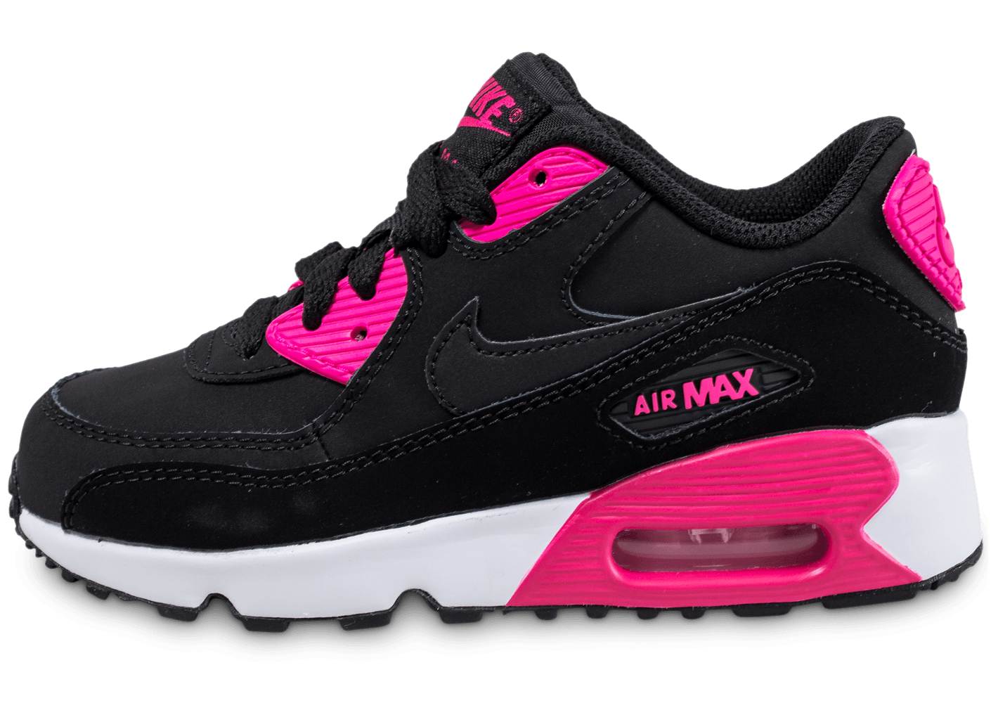 nike air max 90 enfant noire et rose chaussures enfant chausport. Black Bedroom Furniture Sets. Home Design Ideas
