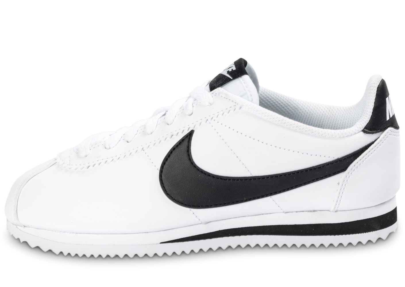 nike classic cortez leather blanche et noire chaussures chaussures chausport. Black Bedroom Furniture Sets. Home Design Ideas