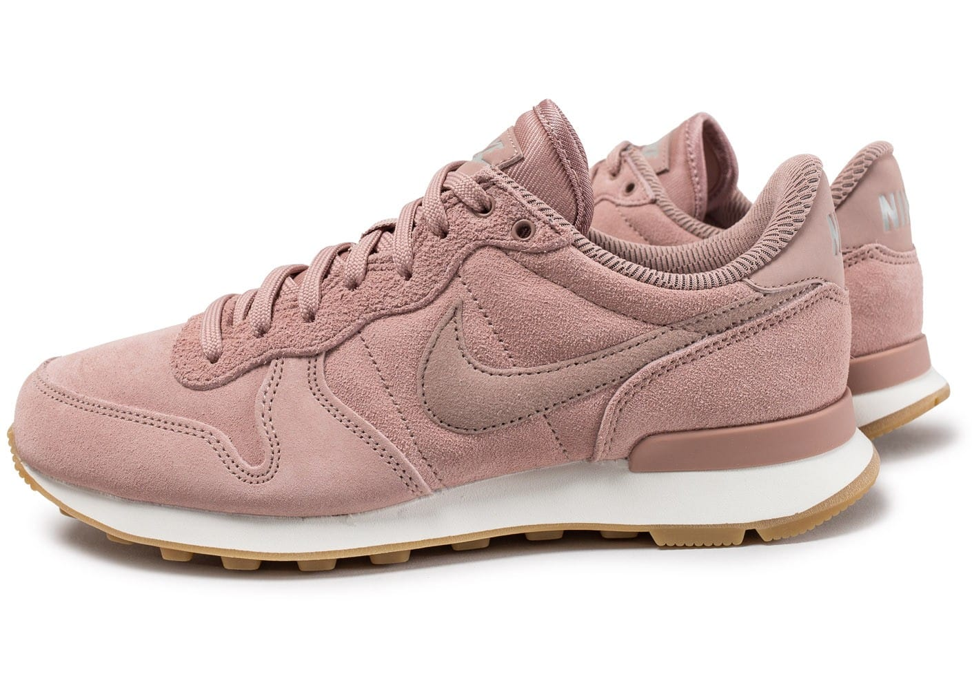 nike internationalist femme rose et grise