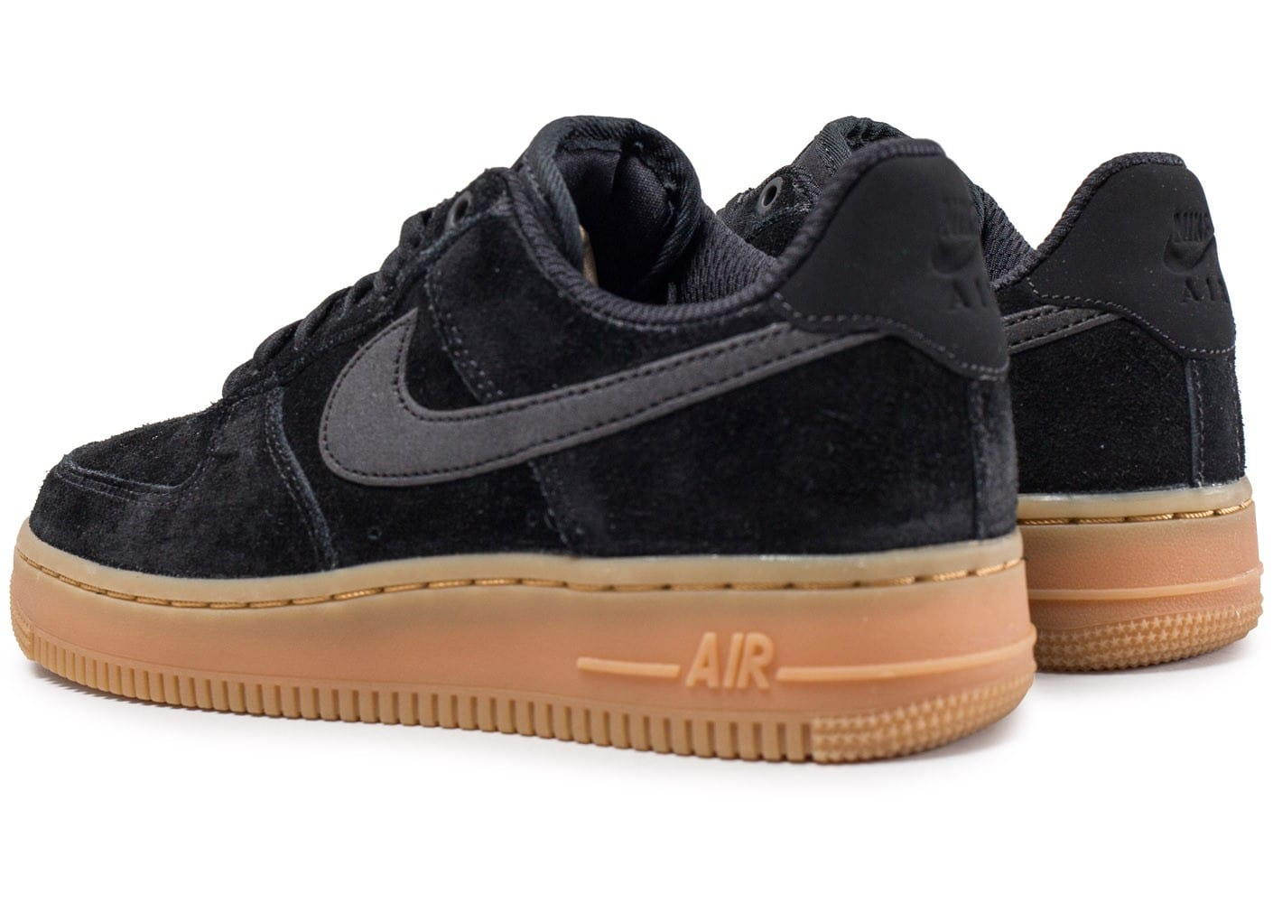 nike air force 1 low 07 se w suede noire chaussures black friday chausport. Black Bedroom Furniture Sets. Home Design Ideas