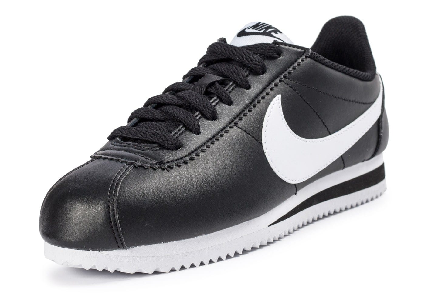 nike classic cortez leather noire et blanche chaussures. Black Bedroom Furniture Sets. Home Design Ideas