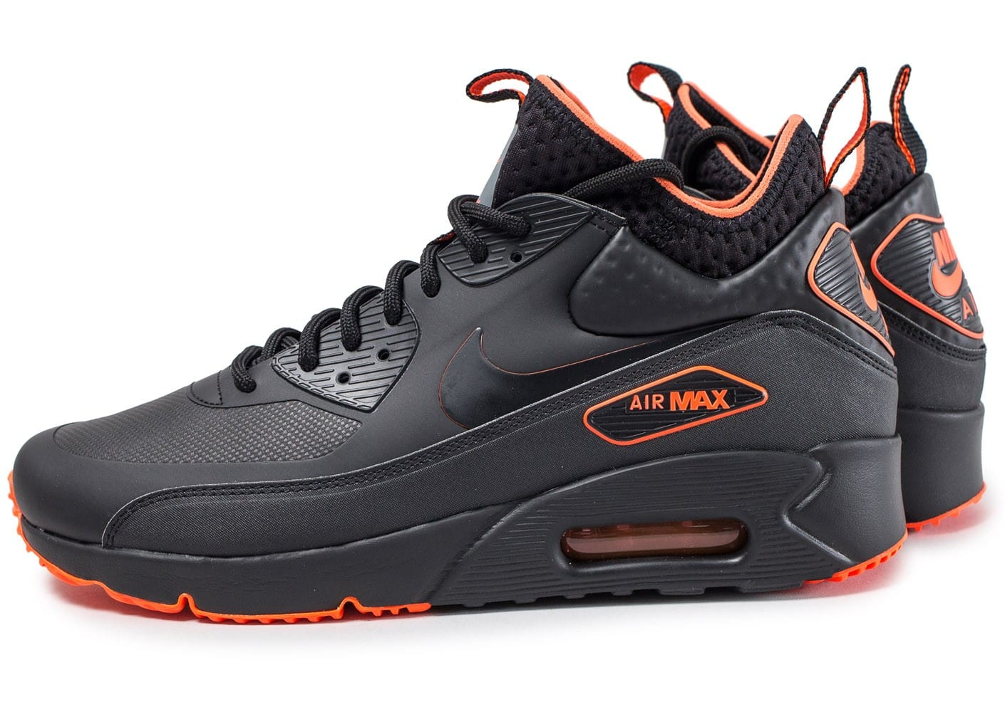 Nike Air Max 90 Ultra Mid Winter SE black crimson ...
