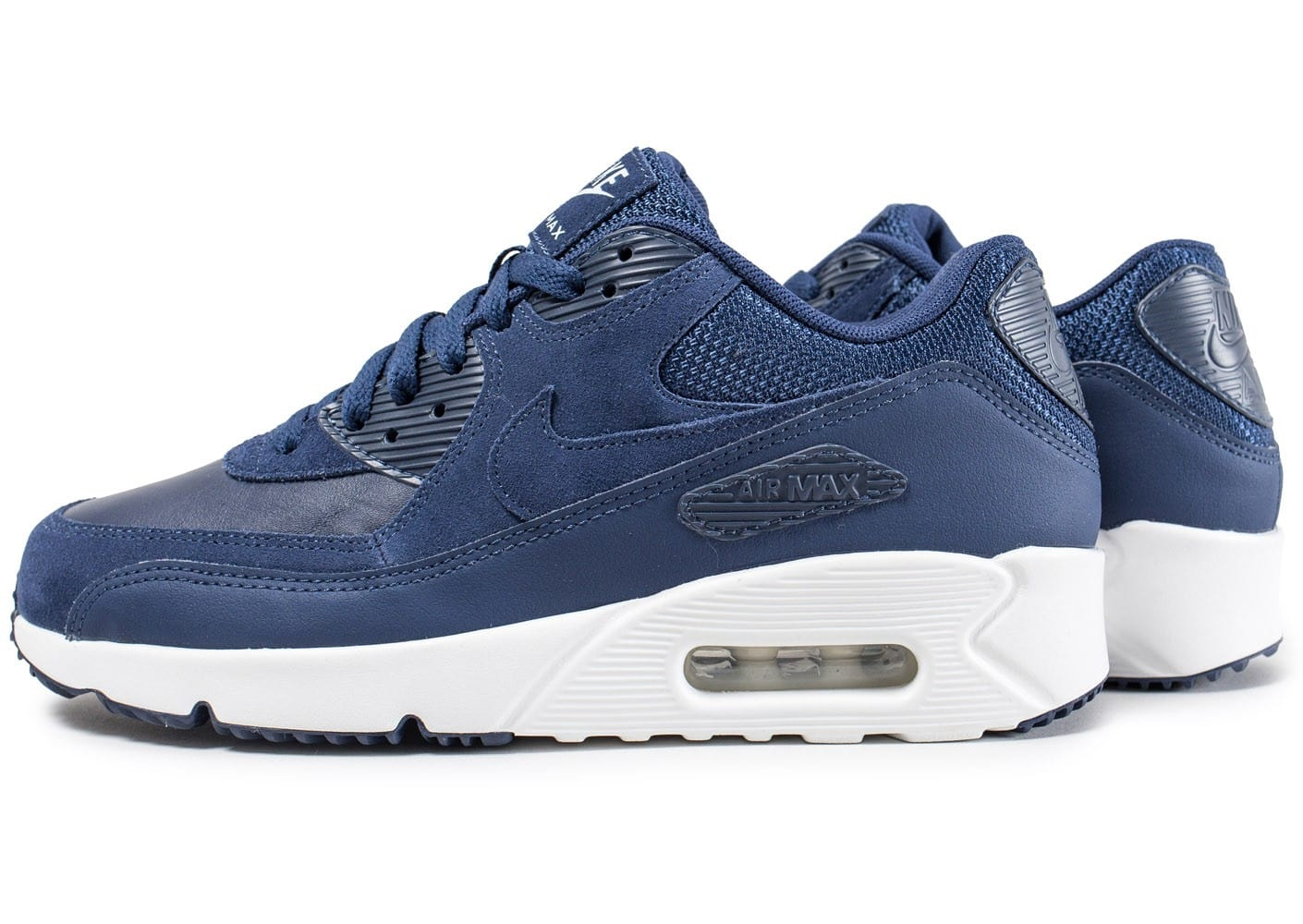nike air max 90 bleu fonc chaussures homme chausport. Black Bedroom Furniture Sets. Home Design Ideas
