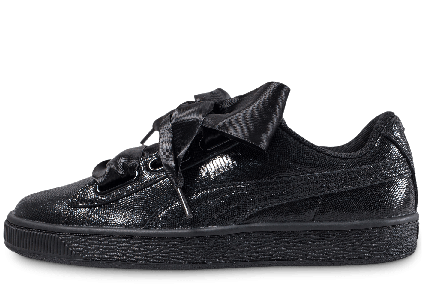 puma basket heart night sky noire chaussures femme chausport. Black Bedroom Furniture Sets. Home Design Ideas