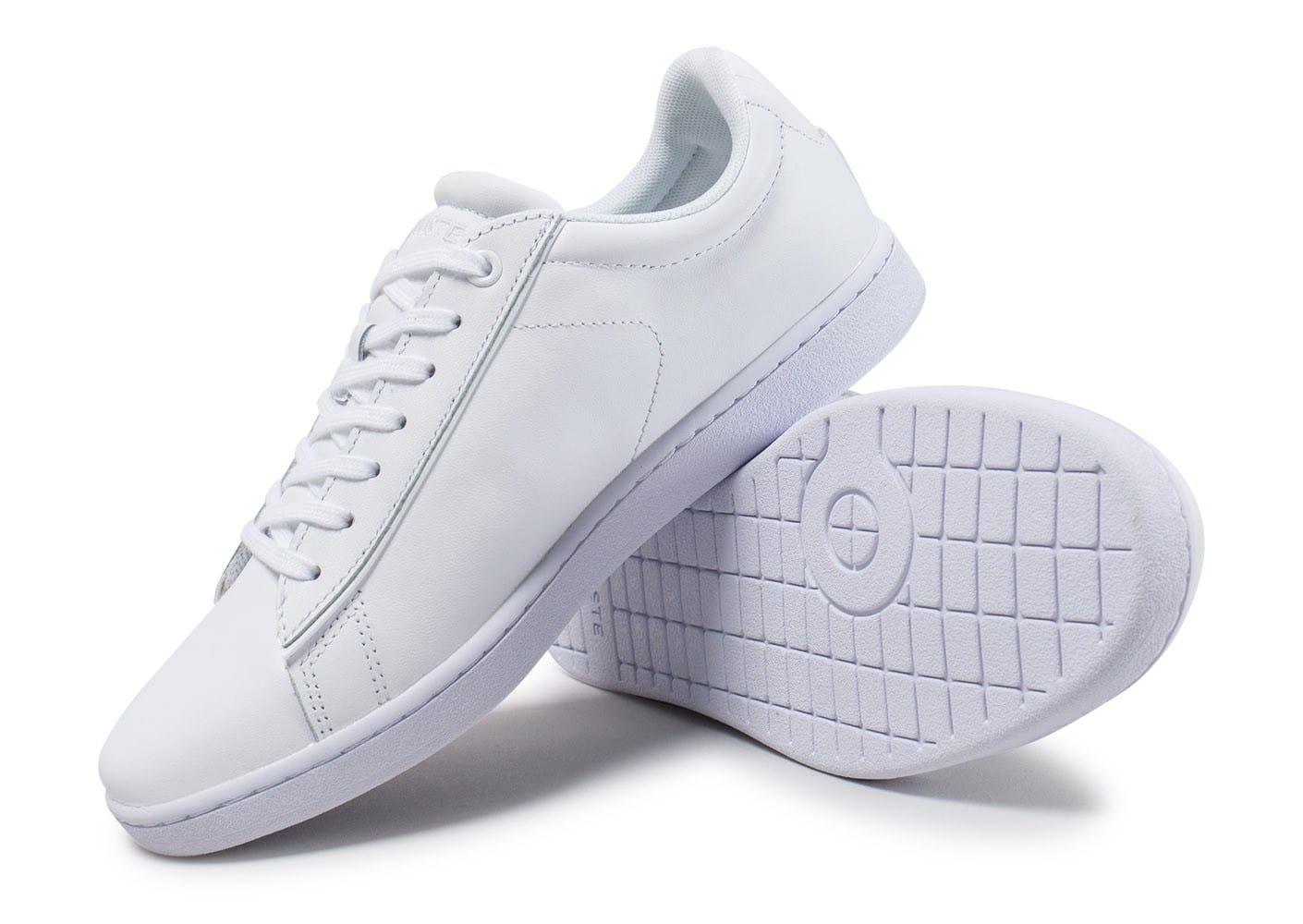 Lacoste carnaby evo 417 spw blanche chaussures femme - Lacoste carnaby evo cls baskets en cuir perfore ...