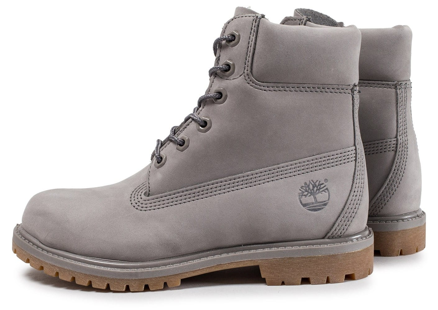 timberland 6 inch premium boots grise chaussures femme. Black Bedroom Furniture Sets. Home Design Ideas