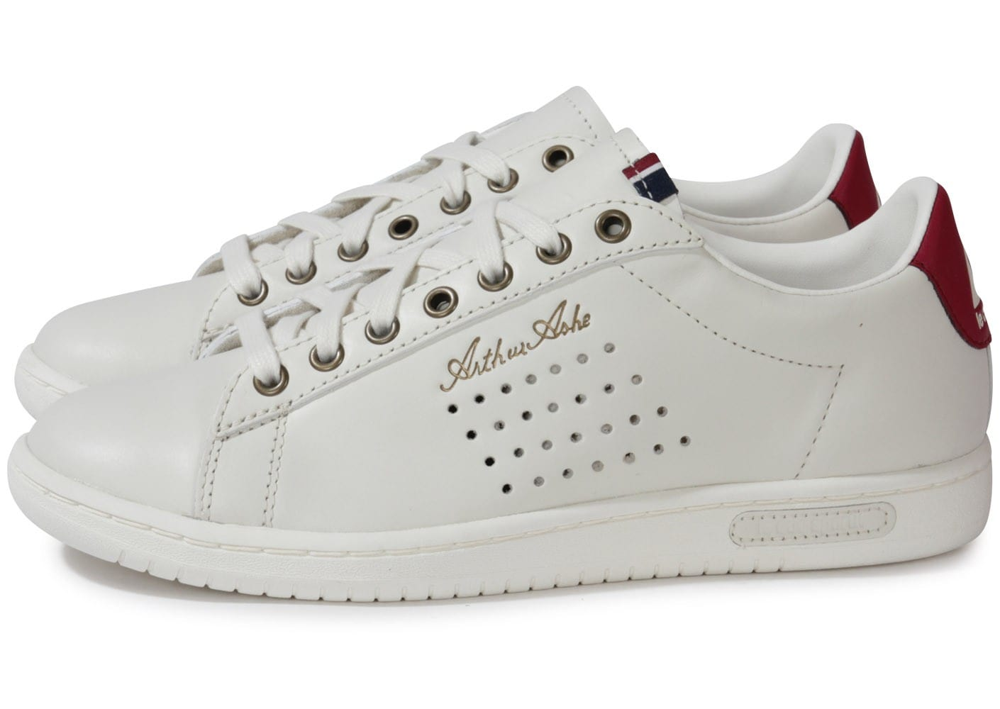le coq sportif arthur ashe int low lea ruby chaussures chaussures chausport. Black Bedroom Furniture Sets. Home Design Ideas