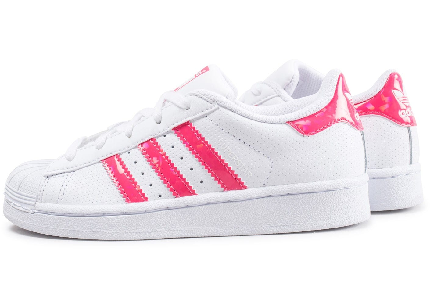 adidas superstar enfant blanche et rose iridescent chaussures adidas chausport. Black Bedroom Furniture Sets. Home Design Ideas