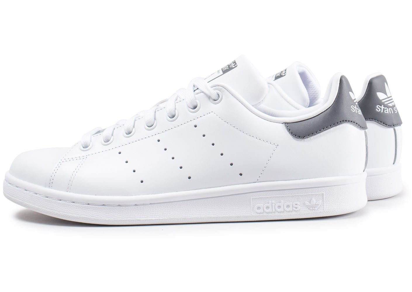 adidas stan smith blanche et grise fonc chaussures homme chausport. Black Bedroom Furniture Sets. Home Design Ideas