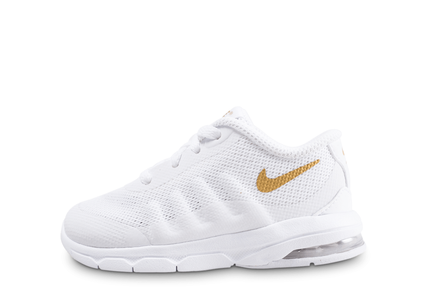Chaussures Nike Air Max Invigor Bebe Blanche Et Or Vue Exterieure