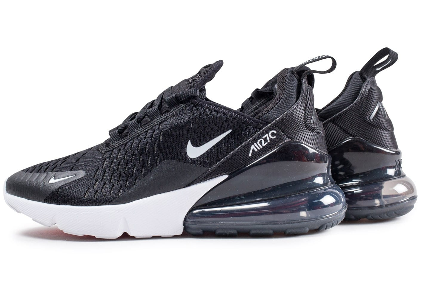 nike air max 270 junior noire et blanche chaussures femme chausport. Black Bedroom Furniture Sets. Home Design Ideas