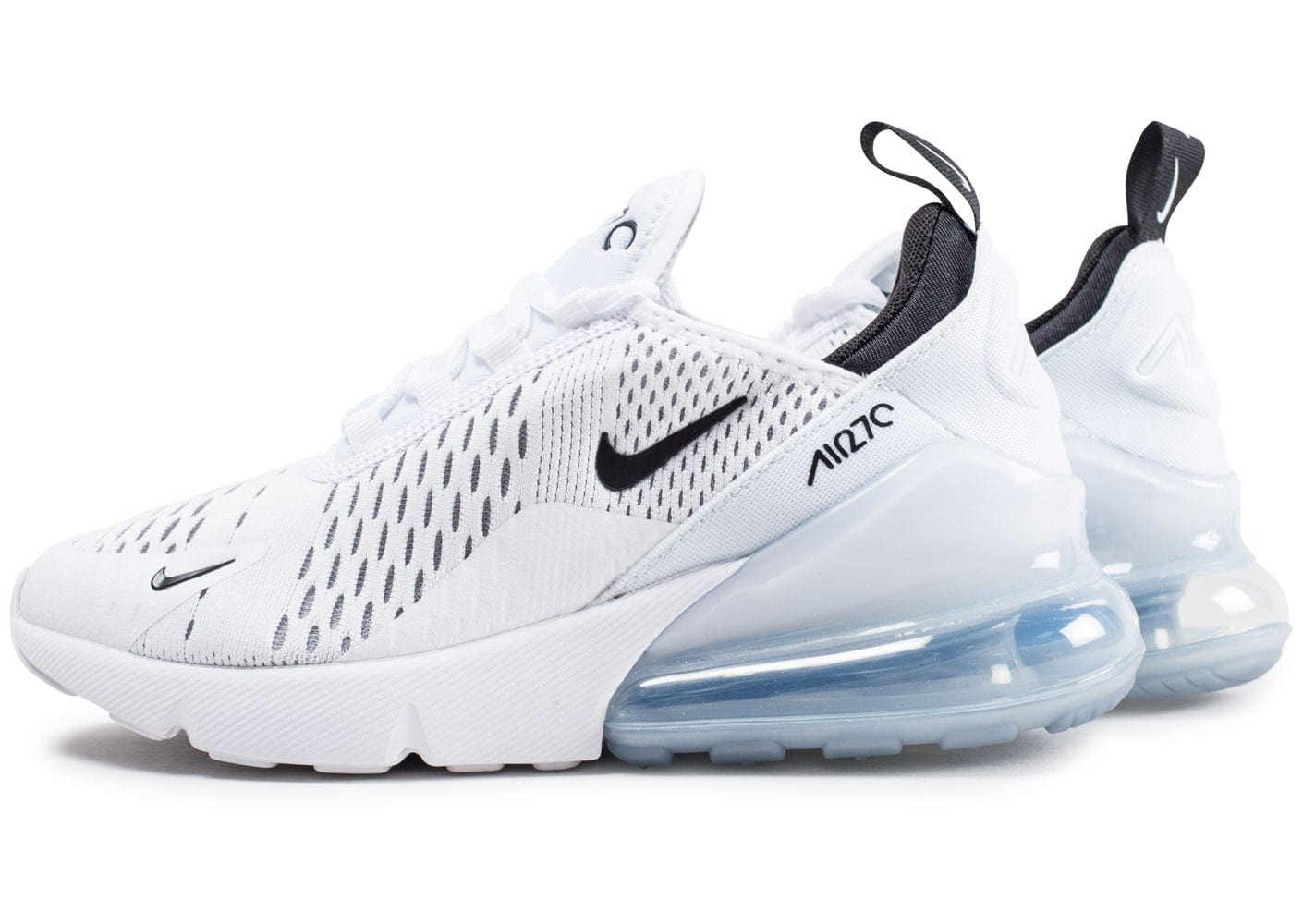 nike air max 270 junior blanche et noire chaussures femme chausport. Black Bedroom Furniture Sets. Home Design Ideas