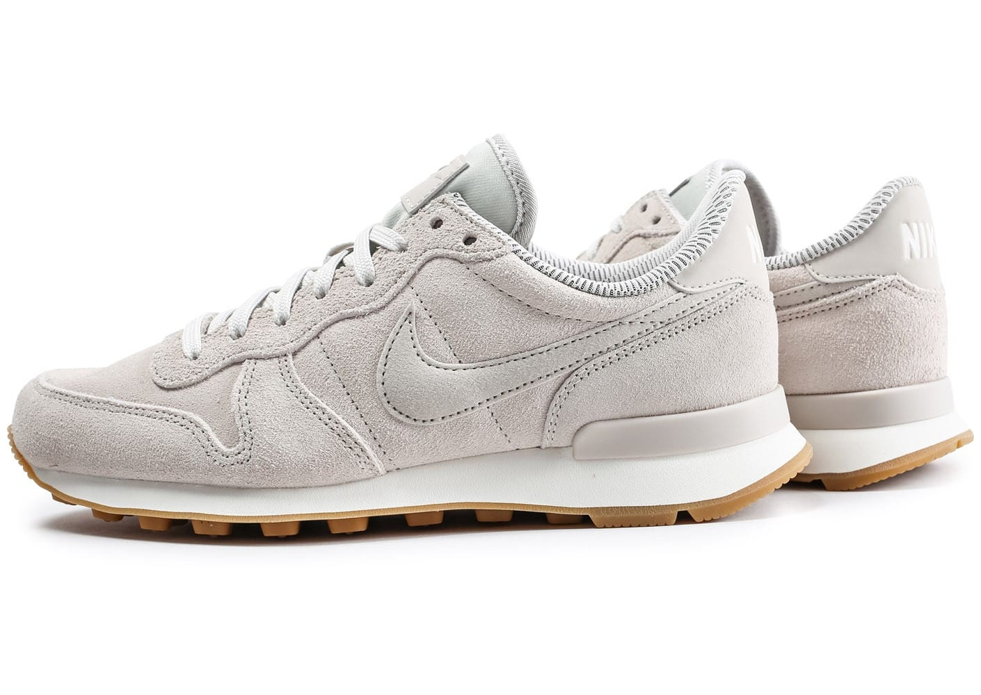 nike internationalist beige chaussures femme chausport. Black Bedroom Furniture Sets. Home Design Ideas